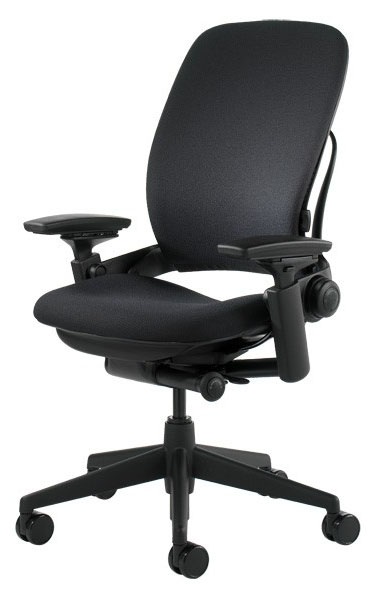 Steelcase Leap Office Chair V2 Highback Model Fully Loaded BLACK EBay
